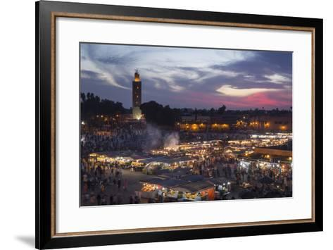 Djemaa El Fna Square and Koutoubia Mosque at Sunset-Stephen Studd-Framed Art Print