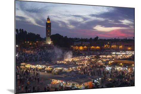 Djemaa El Fna Square and Koutoubia Mosque at Sunset-Stephen Studd-Mounted Photographic Print