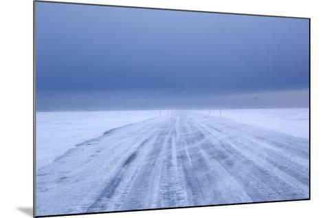 Ice Road in Bad Weather, Longyearbyen, Spitsbergen, Svalbard, Arctic Circle, Norway, Scandinavia-Stephen Studd-Mounted Photographic Print