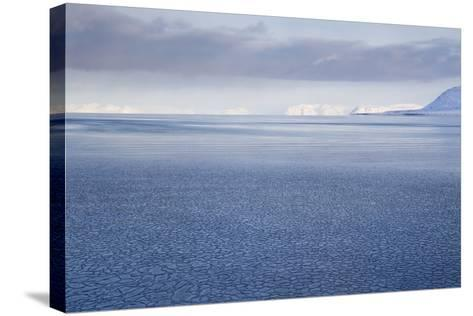 View from Longyearbyen to Adventfjorden Fjord-Stephen Studd-Stretched Canvas Print