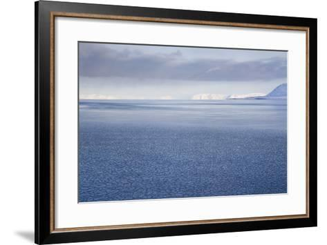 View from Longyearbyen to Adventfjorden Fjord-Stephen Studd-Framed Art Print