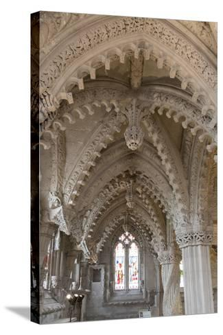 Vaulting in Rosslyn Chapel, Roslin, Midlothian, Scotland, United Kingdom-Nick Servian-Stretched Canvas Print