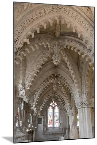 Vaulting in Rosslyn Chapel, Roslin, Midlothian, Scotland, United Kingdom-Nick Servian-Mounted Photographic Print