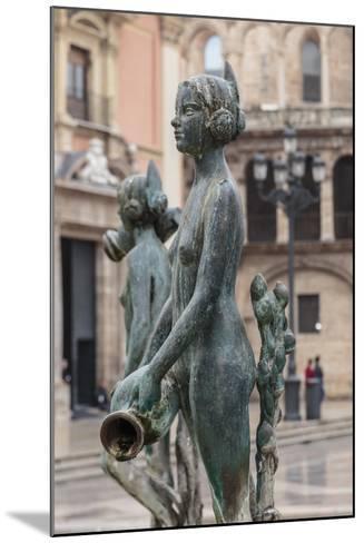 Maiden Statue, Central Fountain Representing Rio Turia, and Cathedral-Eleanor Scriven-Mounted Photographic Print
