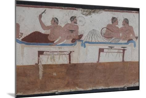Painted Tomb of the Diver Detail, National Archaeological Museum, Paestum, Campania, Italy-Eleanor Scriven-Mounted Photographic Print