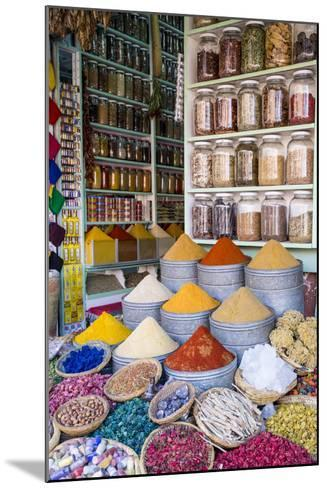Herbs and Spices for Sale in Souk, Medina, Marrakesh, Morocco, North Africa, Africa-Stephen Studd-Mounted Photographic Print