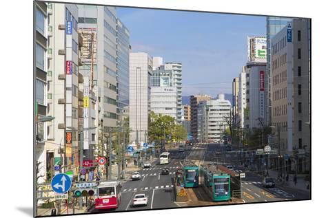 Trams and Traffic, Hiroshima, Hiroshima Prefecture, Japan-Ian Trower-Mounted Photographic Print