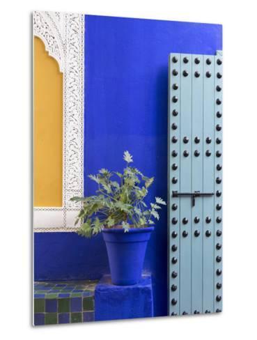 Blue Paintwork, Jardin Majorelle, Owned by Yves St. Laurent, Marrakech, Morocco-Stephen Studd-Metal Print