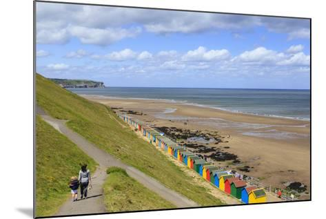 Elevated View of Colourful Beach Huts on West Cliff Beach-Eleanor Scriven-Mounted Photographic Print