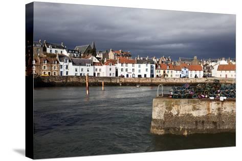 Stormy Skies over St. Monans Harbour, Fife, Scotland, United Kingdom, Europe-Mark Sunderland-Stretched Canvas Print