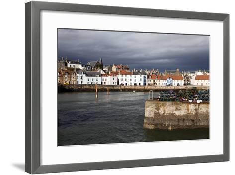 Stormy Skies over St. Monans Harbour, Fife, Scotland, United Kingdom, Europe-Mark Sunderland-Framed Art Print