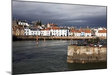 Stormy Skies over St. Monans Harbour, Fife, Scotland, United Kingdom, Europe-Mark Sunderland-Mounted Photographic Print