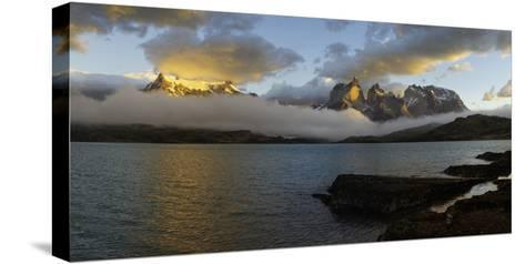 Sunrise over Cuernos Del Paine-G & M Therin-Weise-Stretched Canvas Print