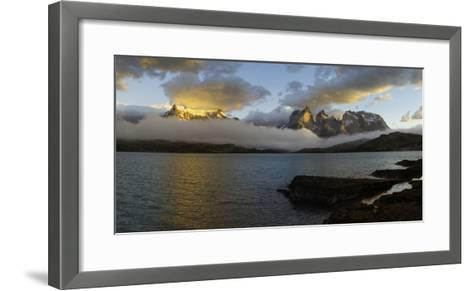 Sunrise over Cuernos Del Paine-G & M Therin-Weise-Framed Art Print