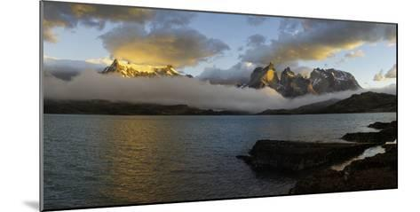 Sunrise over Cuernos Del Paine-G & M Therin-Weise-Mounted Photographic Print