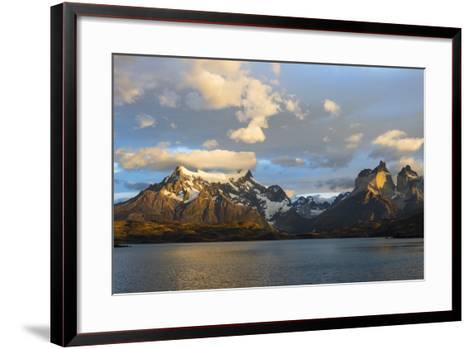 Sunrise over Cuernos Del Paine and Lago Pehoe-G & M Therin-Weise-Framed Art Print