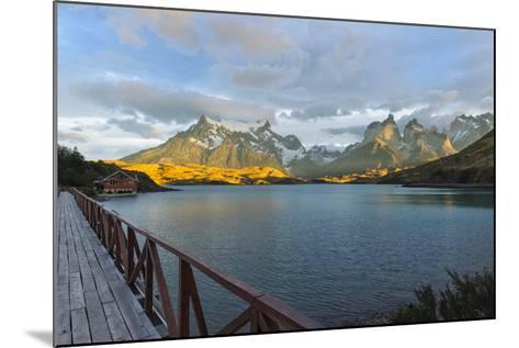 Sunrise over Cuernos Del Paine and Lago Pehoe-G & M Therin-Weise-Mounted Photographic Print