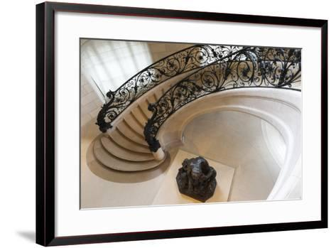 Circular Staircase with the Statue Ugolino and His Son by Jean-Baptiste Carpeaux-G & M Therin-Weise-Framed Art Print