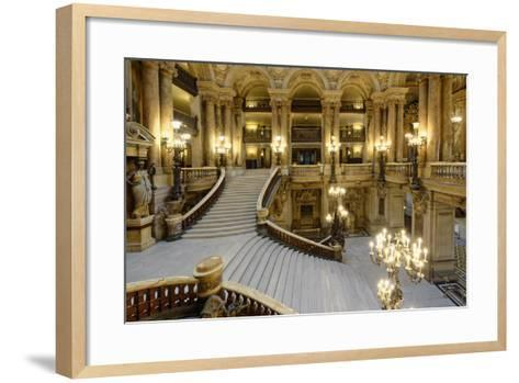 Opera Garnier, Grand Staircase, Paris, France-G & M Therin-Weise-Framed Art Print