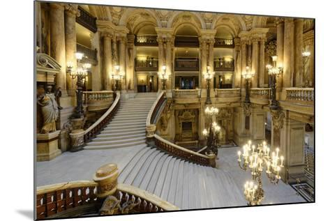 Opera Garnier, Grand Staircase, Paris, France-G & M Therin-Weise-Mounted Photographic Print