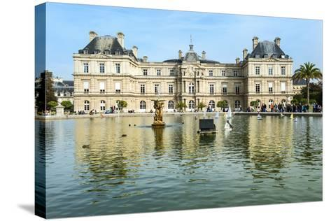 Luxembourg Palace and Gardens, Paris, France, Europe-G & M Therin-Weise-Stretched Canvas Print