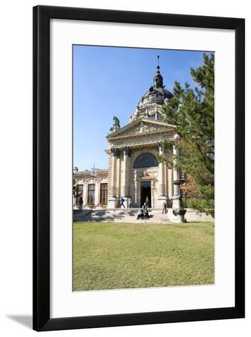 Exterior Facade with Columns and Sculptures of the Famed Szechenhu Thermal Bath House-Kimberly Walker-Framed Art Print