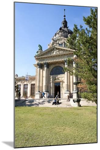 Exterior Facade with Columns and Sculptures of the Famed Szechenhu Thermal Bath House-Kimberly Walker-Mounted Photographic Print