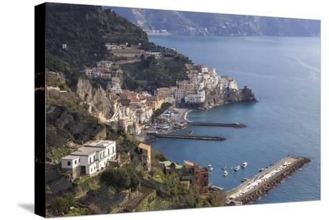 View of Amalfi, from Pastena, Costiera Amalfitana (Amalfi Coast), Campania, Italy-Eleanor Scriven-Stretched Canvas Print