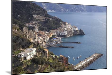 View of Amalfi, from Pastena, Costiera Amalfitana (Amalfi Coast), Campania, Italy-Eleanor Scriven-Mounted Photographic Print
