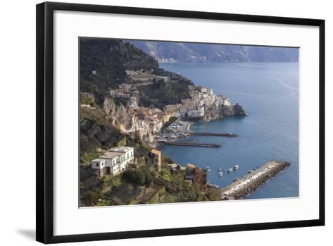 View of Amalfi, from Pastena, Costiera Amalfitana (Amalfi Coast), Campania, Italy-Eleanor Scriven-Framed Art Print