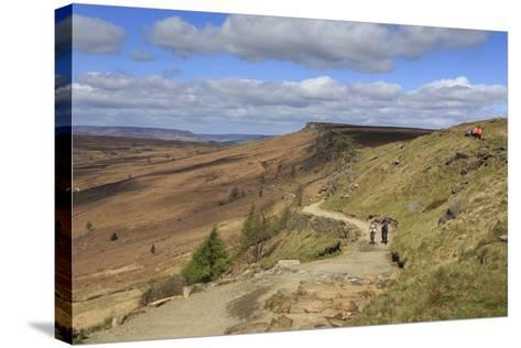 Walkers, Stanage Edge, on a Fine Spring Day-Eleanor Scriven-Stretched Canvas Print