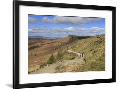 Walkers, Stanage Edge, on a Fine Spring Day-Eleanor Scriven-Framed Art Print