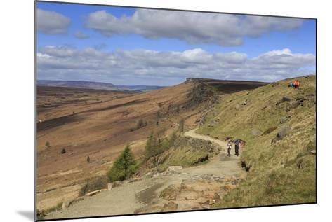 Walkers, Stanage Edge, on a Fine Spring Day-Eleanor Scriven-Mounted Photographic Print