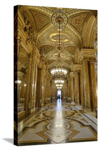 Opera Garnier, Frescoes and Ornate Ceiling by Paul Baudry, Paris, France-G & M Therin-Weise-Stretched Canvas Print