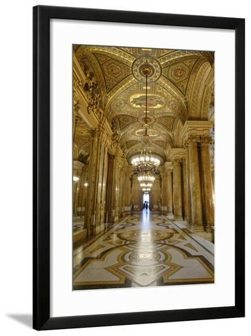 Opera Garnier, Frescoes and Ornate Ceiling by Paul Baudry, Paris, France-G & M Therin-Weise-Framed Art Print
