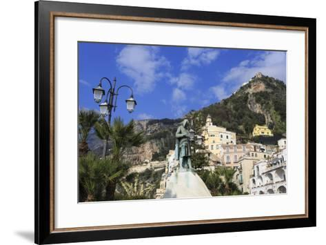 View from Waterfront to Statue-Eleanor Scriven-Framed Art Print