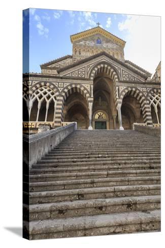 Cathedral and Steps with No People, Amalfi, Costiera Amalfitana (Amalfi Coast), Campania, Italy-Eleanor Scriven-Stretched Canvas Print