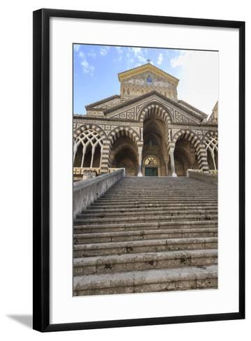 Cathedral and Steps with No People, Amalfi, Costiera Amalfitana (Amalfi Coast), Campania, Italy-Eleanor Scriven-Framed Art Print