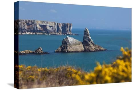 Church Rock, Broad Haven Beach, Pembrokeshire, West Wales, Wales, United Kingdom-Billy Stock-Stretched Canvas Print