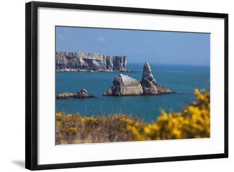 Church Rock, Broad Haven Beach, Pembrokeshire, West Wales, Wales, United Kingdom-Billy Stock-Framed Art Print