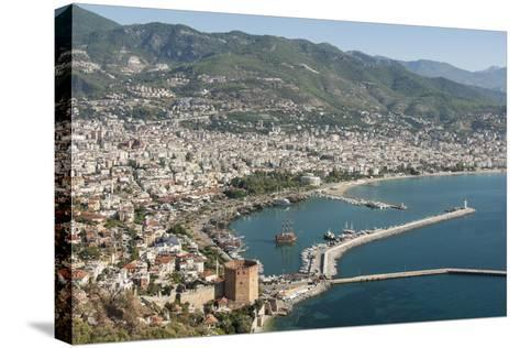 Harbour Seen from Kale Fortress, Alanya, Southern Turkey, Anatolia, Turkey, Asia Minor, Eurasia-Tony Waltham-Stretched Canvas Print