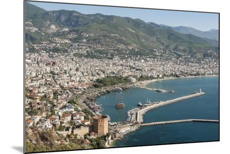 Harbour Seen from Kale Fortress, Alanya, Southern Turkey, Anatolia, Turkey, Asia Minor, Eurasia-Tony Waltham-Mounted Photographic Print