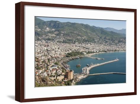 Harbour Seen from Kale Fortress, Alanya, Southern Turkey, Anatolia, Turkey, Asia Minor, Eurasia-Tony Waltham-Framed Art Print