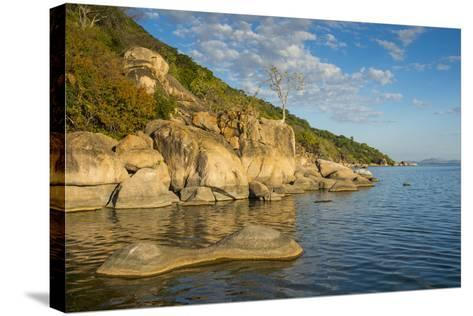 Otter Point at Sunset, Cape Maclear, Lake Malawi National Park, Malawi, Africa-Michael Runkel-Stretched Canvas Print