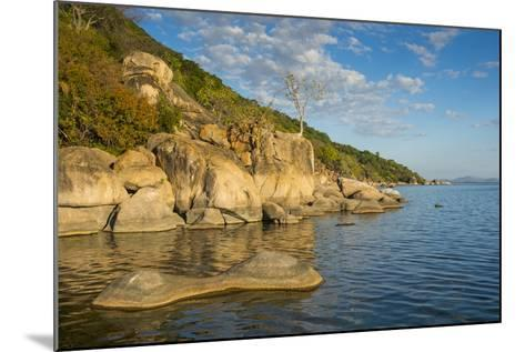Otter Point at Sunset, Cape Maclear, Lake Malawi National Park, Malawi, Africa-Michael Runkel-Mounted Photographic Print