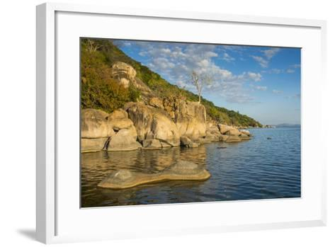 Otter Point at Sunset, Cape Maclear, Lake Malawi National Park, Malawi, Africa-Michael Runkel-Framed Art Print