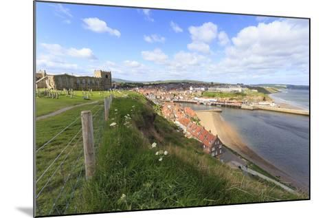 St. Mary's Church and Churchyard with View across Tate Hill Beach and Town Houses to West Cliff-Eleanor Scriven-Mounted Photographic Print