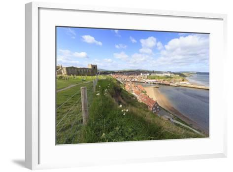 St. Mary's Church and Churchyard with View across Tate Hill Beach and Town Houses to West Cliff-Eleanor Scriven-Framed Art Print