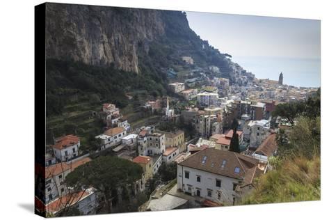 Elevated View of Amalfi, Costiera Amalfitana (Amalfi Coast), Campania, Italy-Eleanor Scriven-Stretched Canvas Print