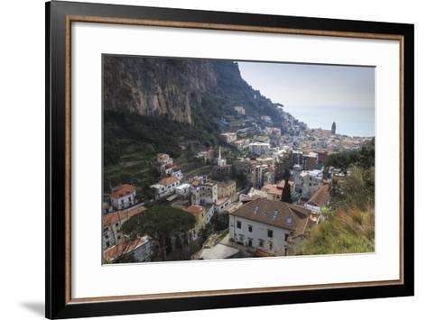 Elevated View of Amalfi, Costiera Amalfitana (Amalfi Coast), Campania, Italy-Eleanor Scriven-Framed Art Print